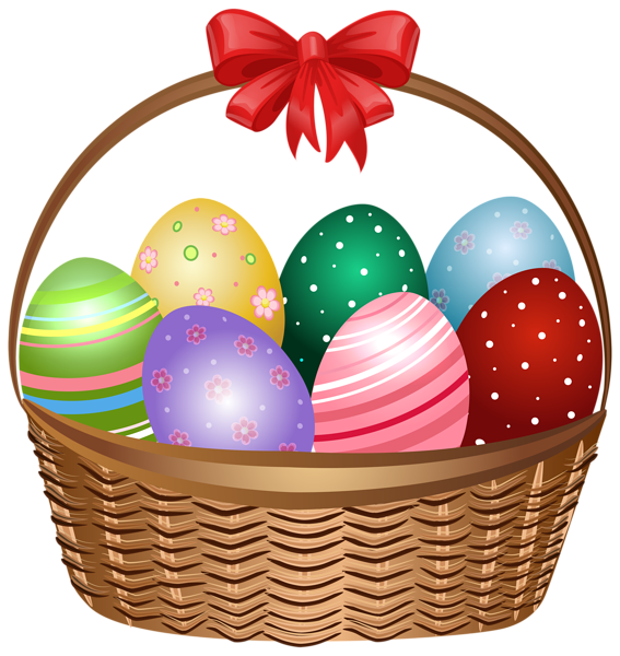 Easter egg basket clip art vector free Easter Basket Clip Art Image | Easter clip | Pinterest | Easter ... vector free