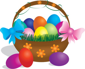 Clipart easter basket free Easter Basket Clipart Image - Image Of a Basket Full Of Colored ... free