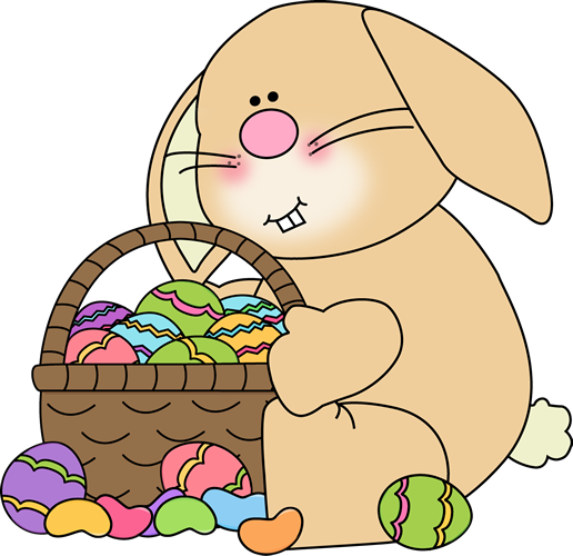 Clipart easter basket bunny