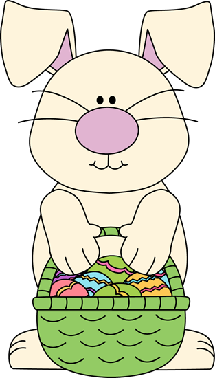 Clipart easter basket bunny graphic library library Easter Bunny Clip Art - Easter Bunny Images graphic library library