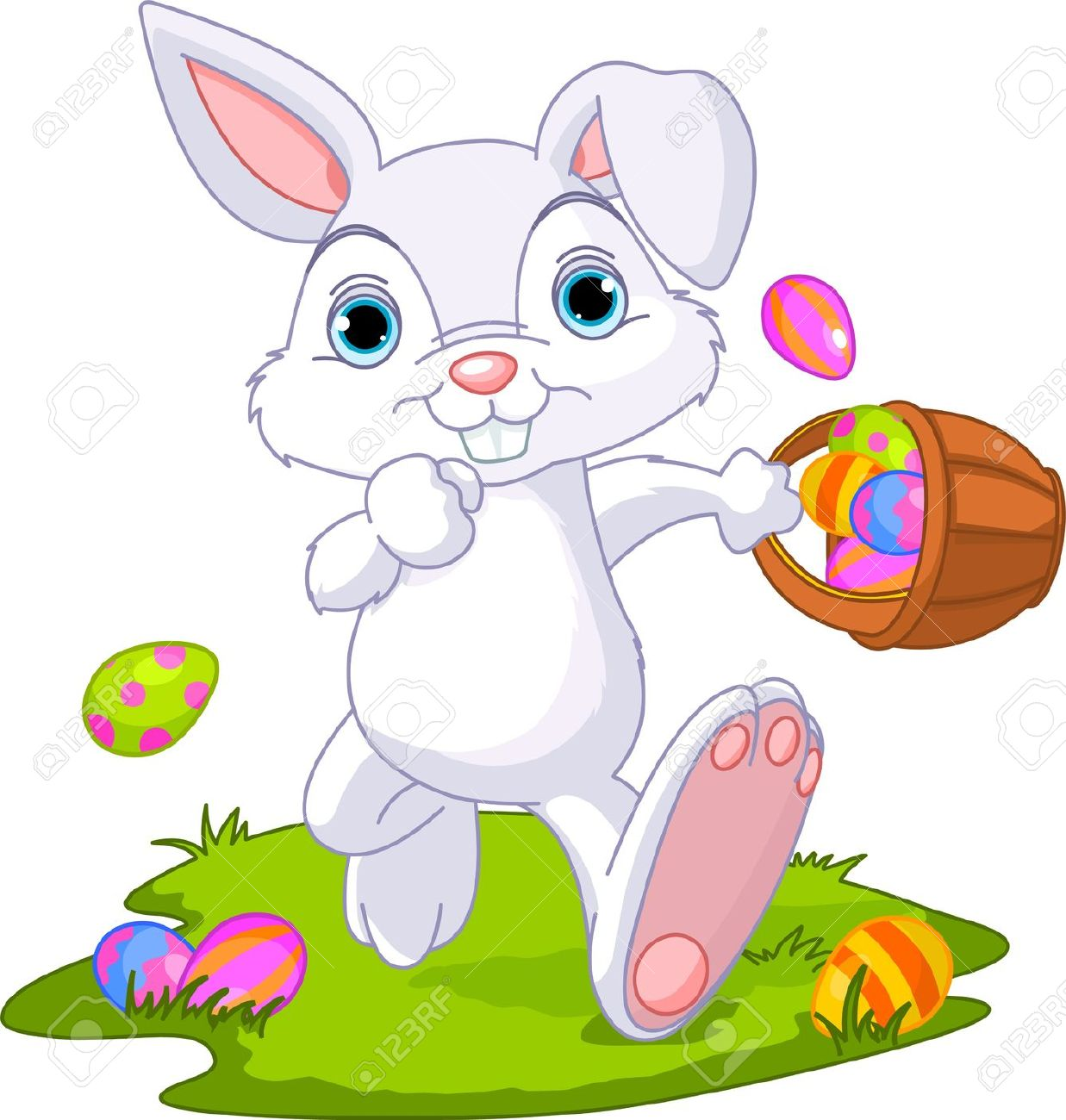 Clipart easter basket bunny graphic Free Easter Bunny Clipart & Easter Bunny Clip Art Images ... graphic