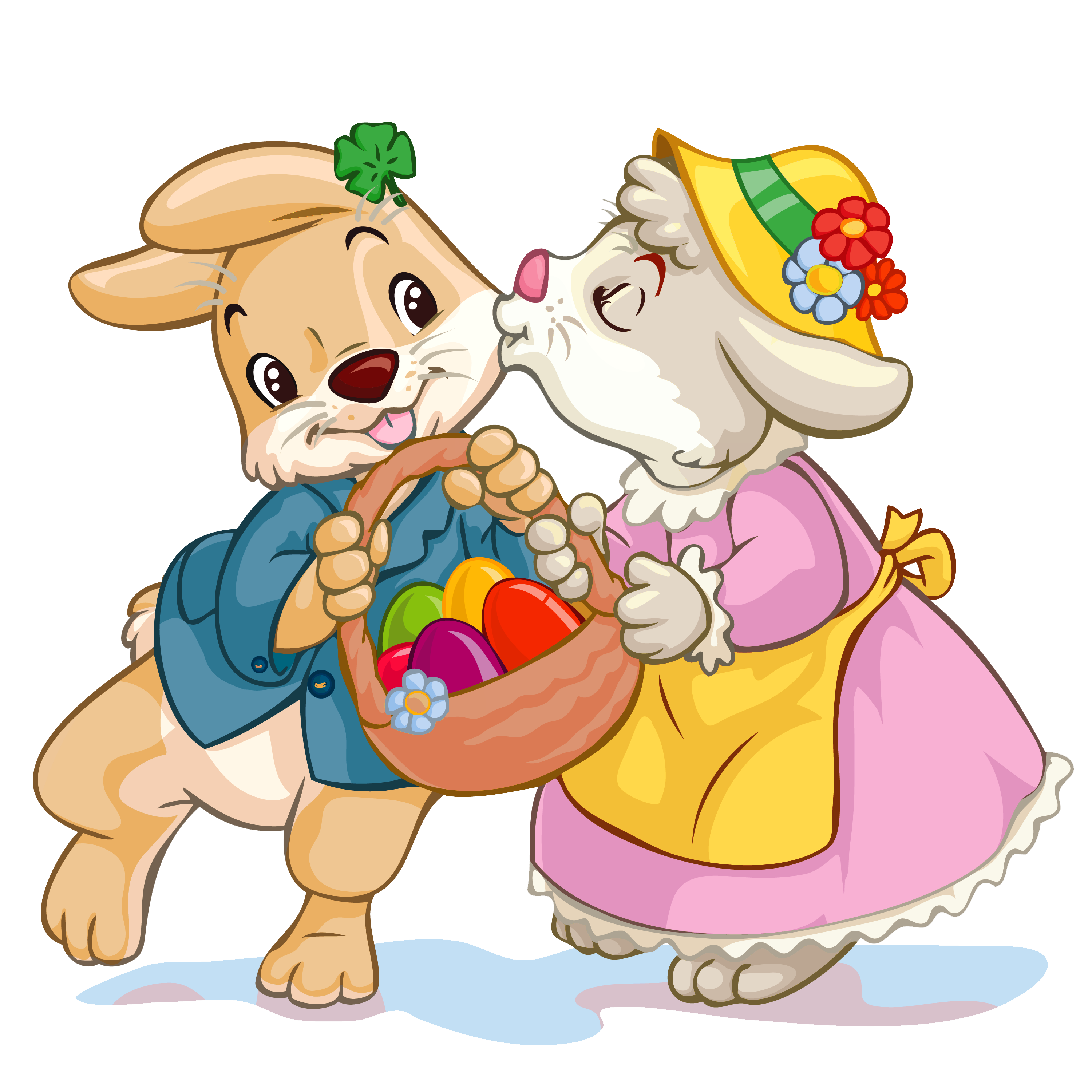 Clipart easter basket bunny vector royalty free Easter Bunny With Basket Clip Art - ClipArt Best vector royalty free