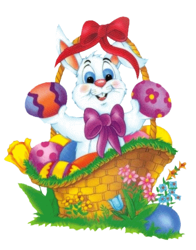 Clipart easter basket bunny clipart freeuse library Easter Bunny Basket Clipart clipart freeuse library