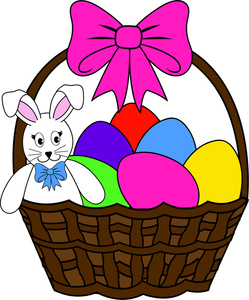 Clipart easter basket bunny jpg free Clipart easter basket bunny - ClipartFest jpg free