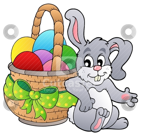 Clipart easter basket bunny freeuse Clipart easter basket bunny - ClipartFest freeuse