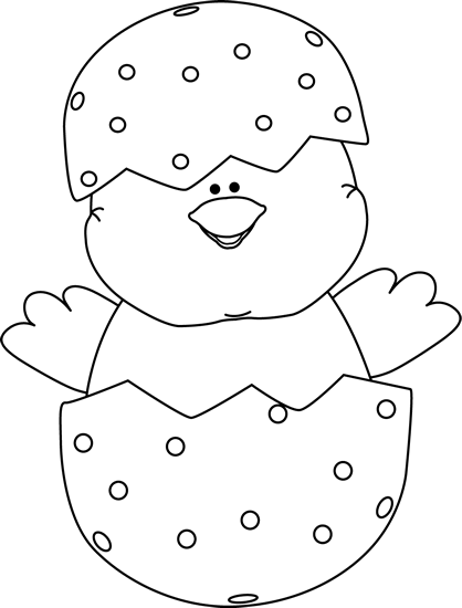 Free black and white easter egg clipart graphic black and white library Free Easter Clip Art Black and White | Black and White Chick Inside ... graphic black and white library
