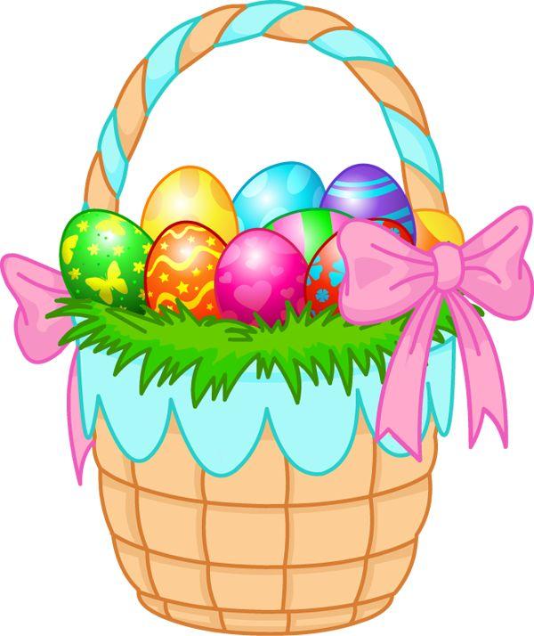Clipart easter egg basket banner library download Easter egg basket clipart - ClipartFest banner library download