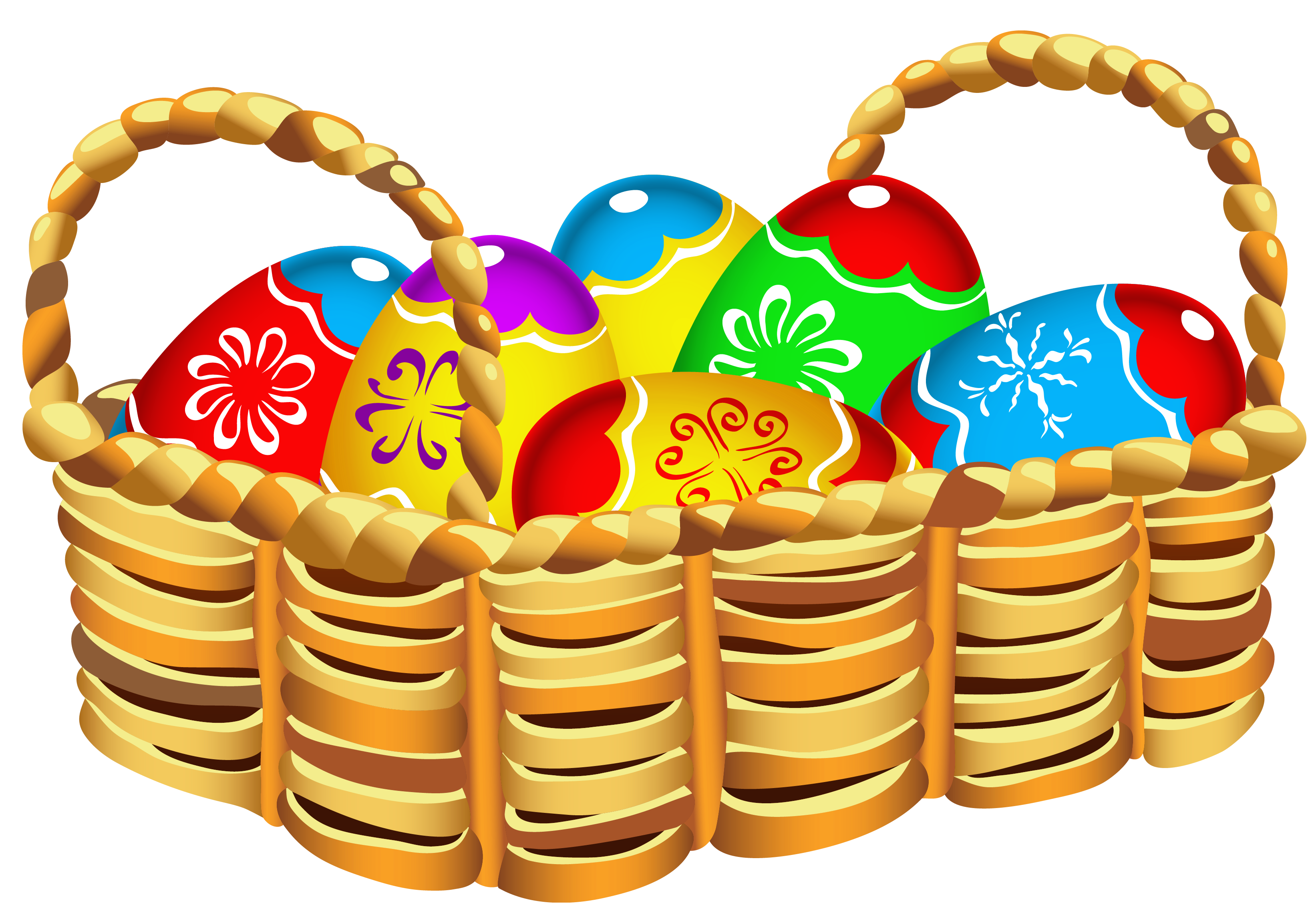 Easter egg basket clip art clip art library stock Square Basket with Easter Eggs PNG Clipart clip art library stock