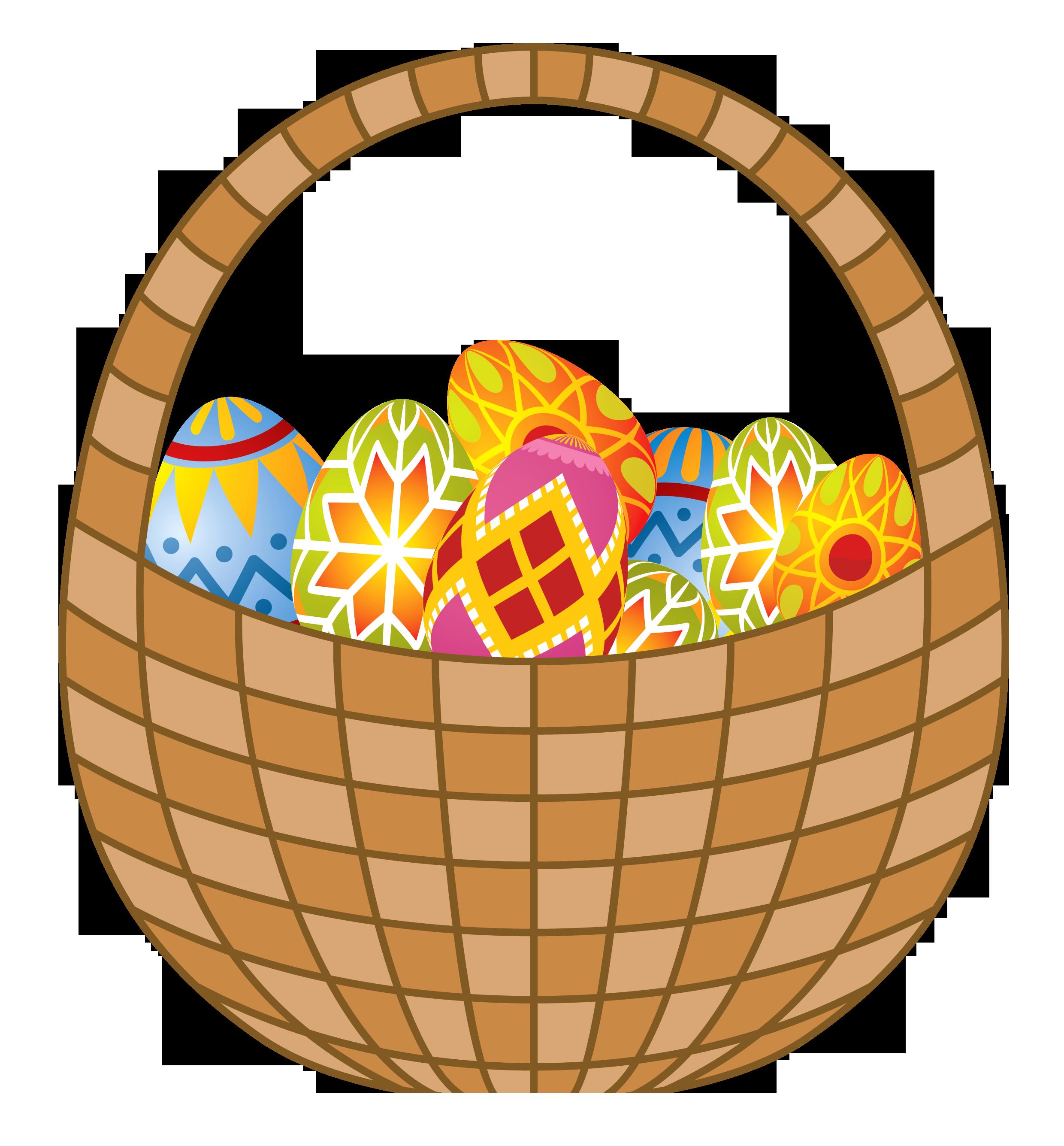 Clipart easter egg basket image library stock Easter Eggs and Basket PNG Clipart image library stock