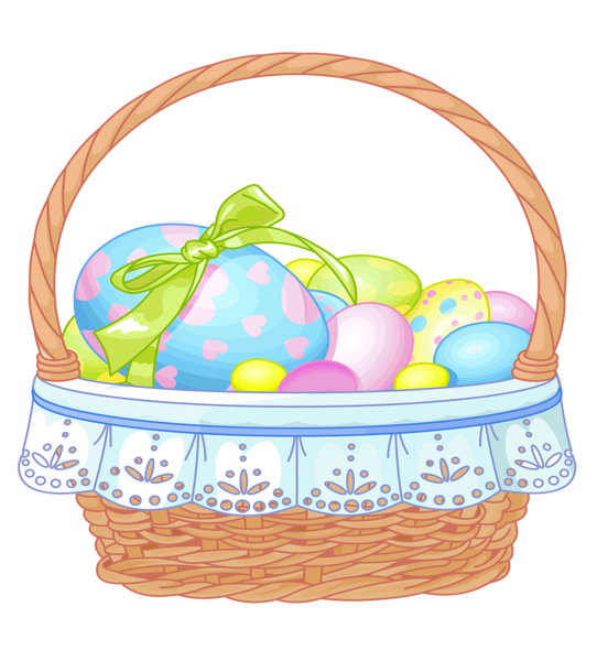 Easter basket clipart with a cross in it image library images of easter decoration png clipart | Easter Basket with Eggs ... image library