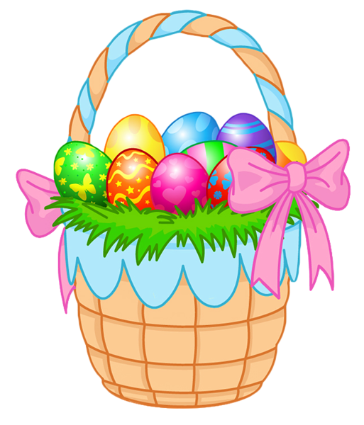 Easter egg basket clip art image Easter Clipart Transparent Background | Easter Bunny & Eggs ... image