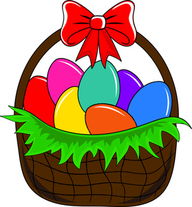 Clipart easter egg basket clip free library Easter egg basket clip art - ClipartFest clip free library