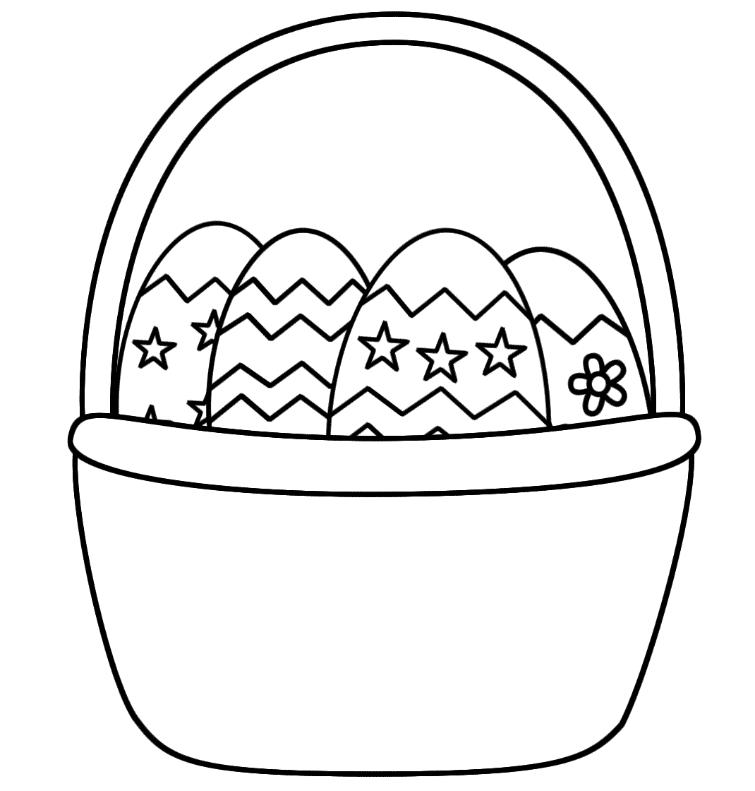 Clipart easter egg basket black and white svg royalty free Easter Basket Blank Clipart - Clipart Kid svg royalty free