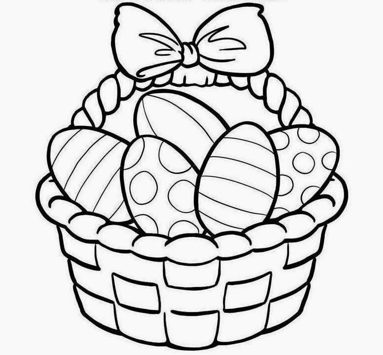 Clipart easter egg basket black and white clip art free download Easter Basket Clipart | When Is Easter 2017 – Happy Easter Images ... clip art free download