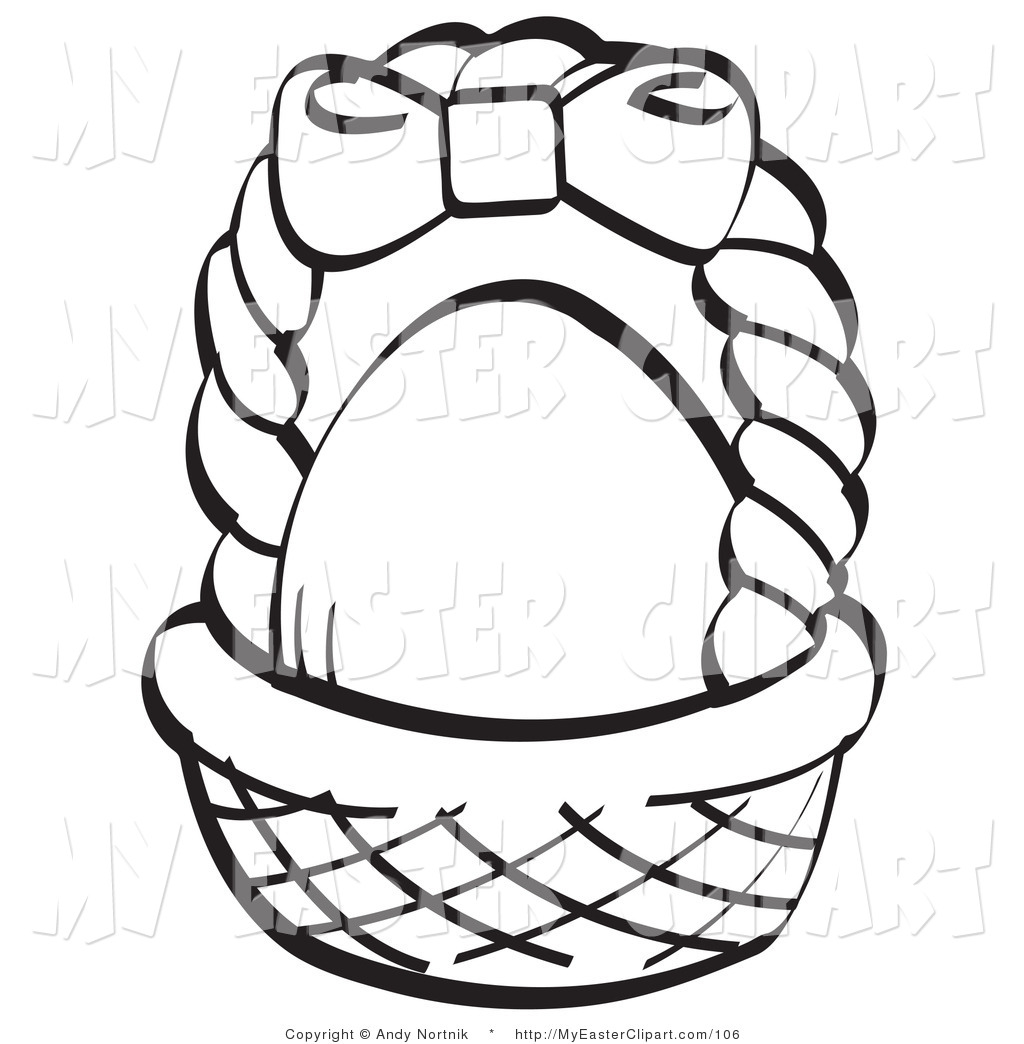 Clipart easter egg basket black and white picture download Easter Basket Black And White Clipart - Clipart Kid picture download