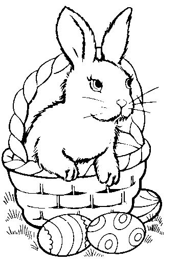 Clipart easter egg basket black and white png black and white library bunny in egg picture | white, bunny, bunny and basket, bw, colored ... png black and white library