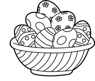 Clipart easter egg basket black and white picture royalty free library Easter clipart images black and white - ClipartFest picture royalty free library
