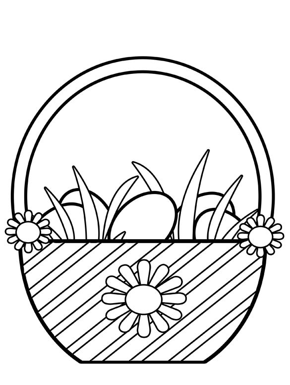 Clipart easter egg basket black and white png download 17 Best images about Easter on Pinterest | Paper folding crafts ... png download