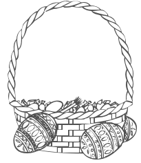 Clipart easter egg basket black and white picture free download Free Black and White Easter Clipart - Public Domain Holiday/Easter ... picture free download