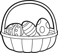 Clipart easter egg basket black and white vector black and white download Easter Basket Black And White Clipart - Clipart Kid vector black and white download