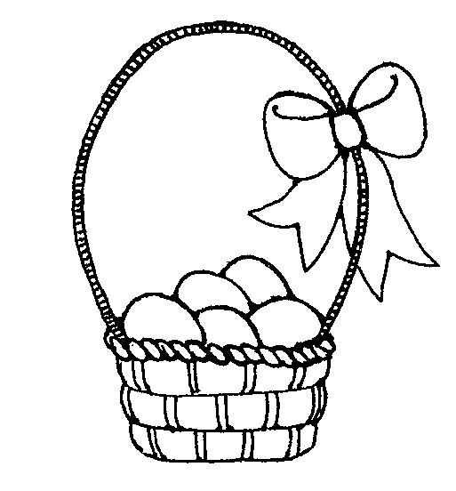 Clipart easter egg basket black and white image royalty free Easter Basket Clipart Black And White Images | Easter Day ... image royalty free