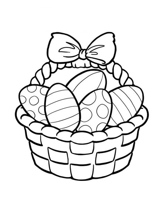 Clipart easter egg basket black and white jpg transparent download Easter Egg Clip Art Black and White | Coloring Pages | Pinterest ... jpg transparent download