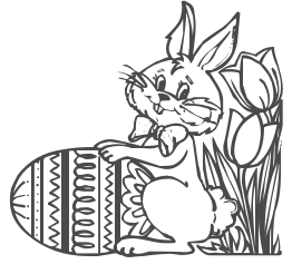 Clipartfest viewed . Clipart easter egg hunt black and white