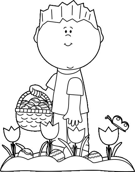 Clipart easter egg hunt black and white. Kids clip art images