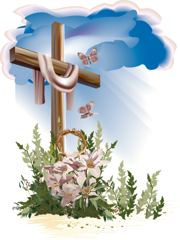 Clipart easter flowers with cross picture free library Easter Cross Resurrection Cross | St. Anthony's Roman Catholic Church picture free library