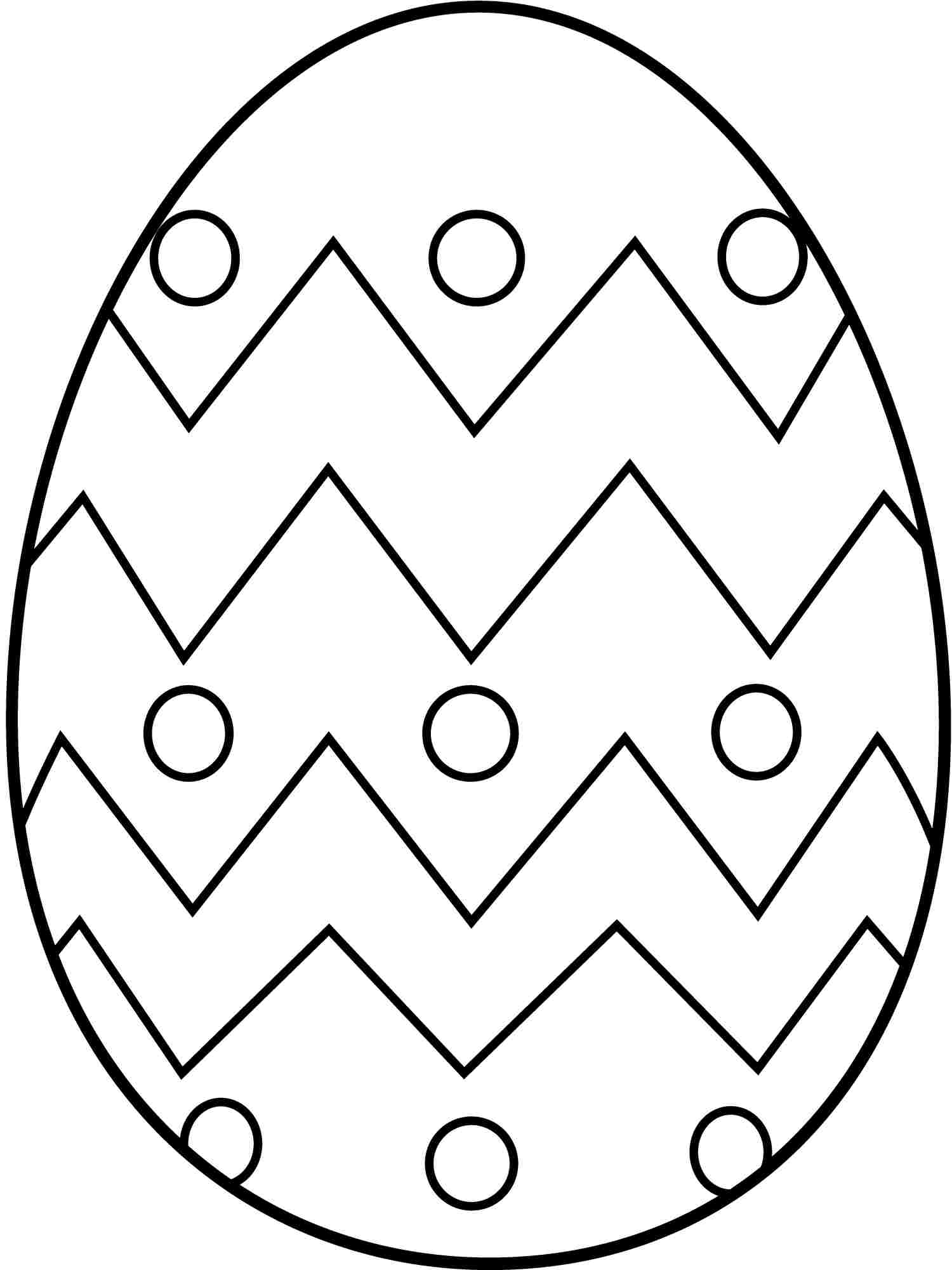 Clipart easter printables svg freeuse download Easter egg coloring clipart - ClipartFest svg freeuse download