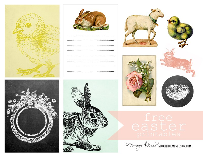 Clipart easter printables svg Free Easter Printable & Vintage Clip Art – Maggie Holmes Design svg