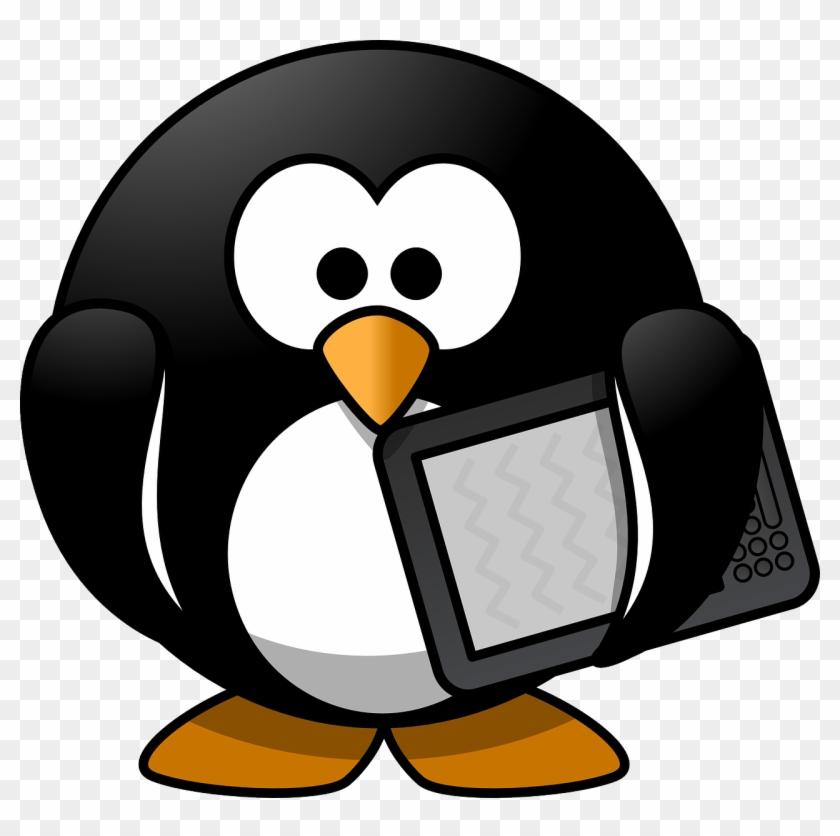 Clipart ebooks svg royalty free stock Tux Animal Bird Book Ebook Png Image - Round Cartoon Penguin ... svg royalty free stock