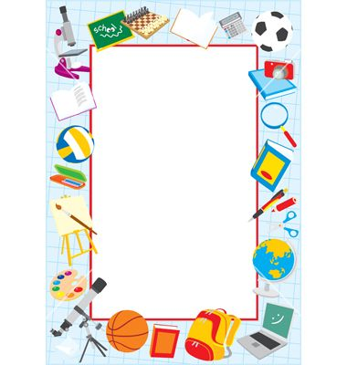 School themed border clipart clip art transparent School Clip Art Borders | School border vector art - Download School ... clip art transparent