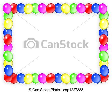 Clipart einladung picture transparent stock Stock Illustration von Rahmen, geburstag, luftballone, einladung ... picture transparent stock