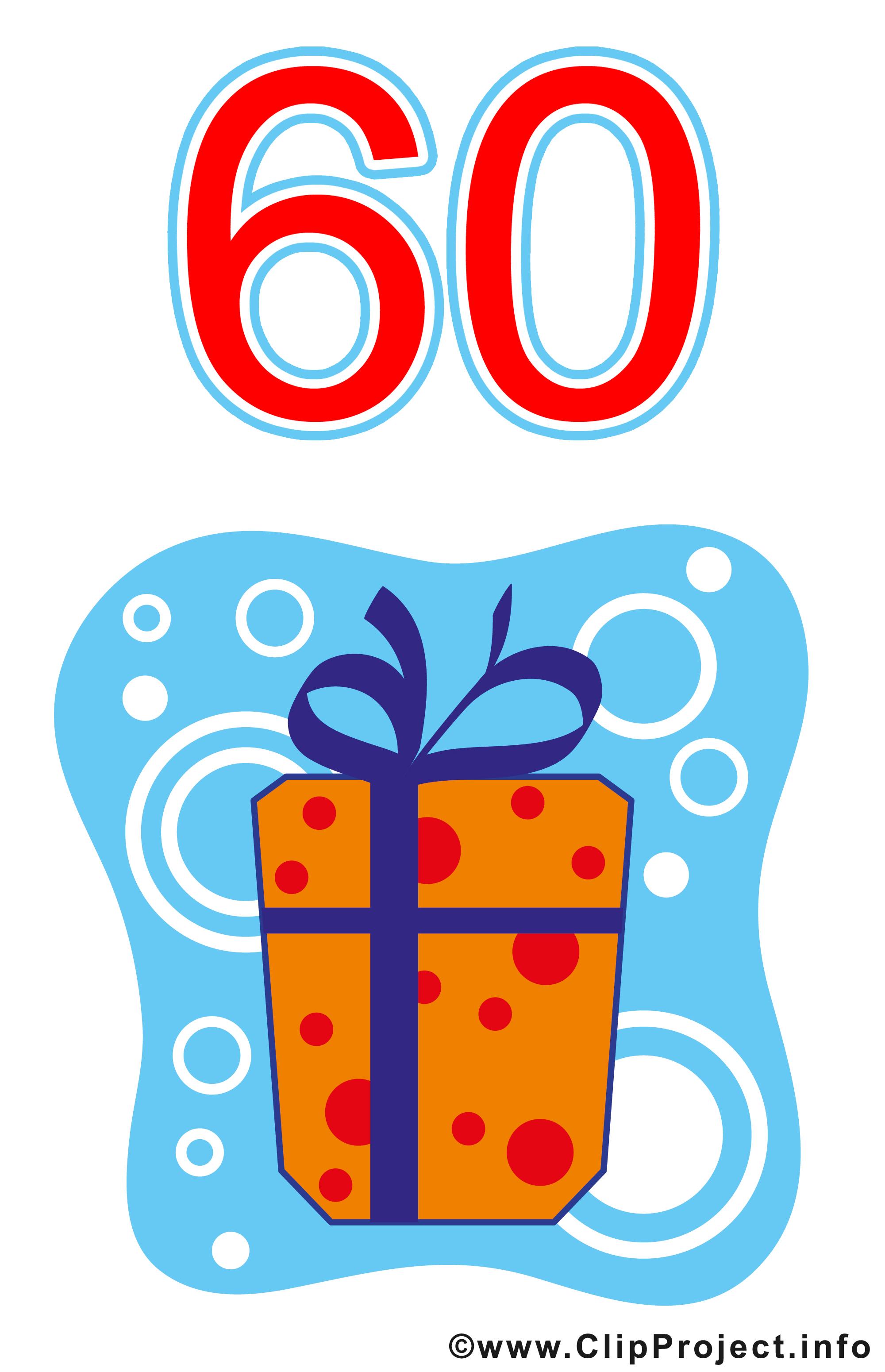 Clipart einladung 60 geburtstag clipart free library Geschenk zum 60 Geburtstag Clipart gratis clipart free library