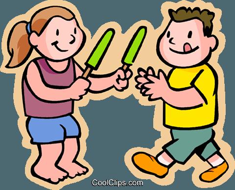 Clipartfest kinder ein am. Clipart eis essen