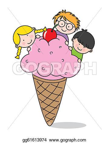 Ice cream party clip. Clipart eis essen