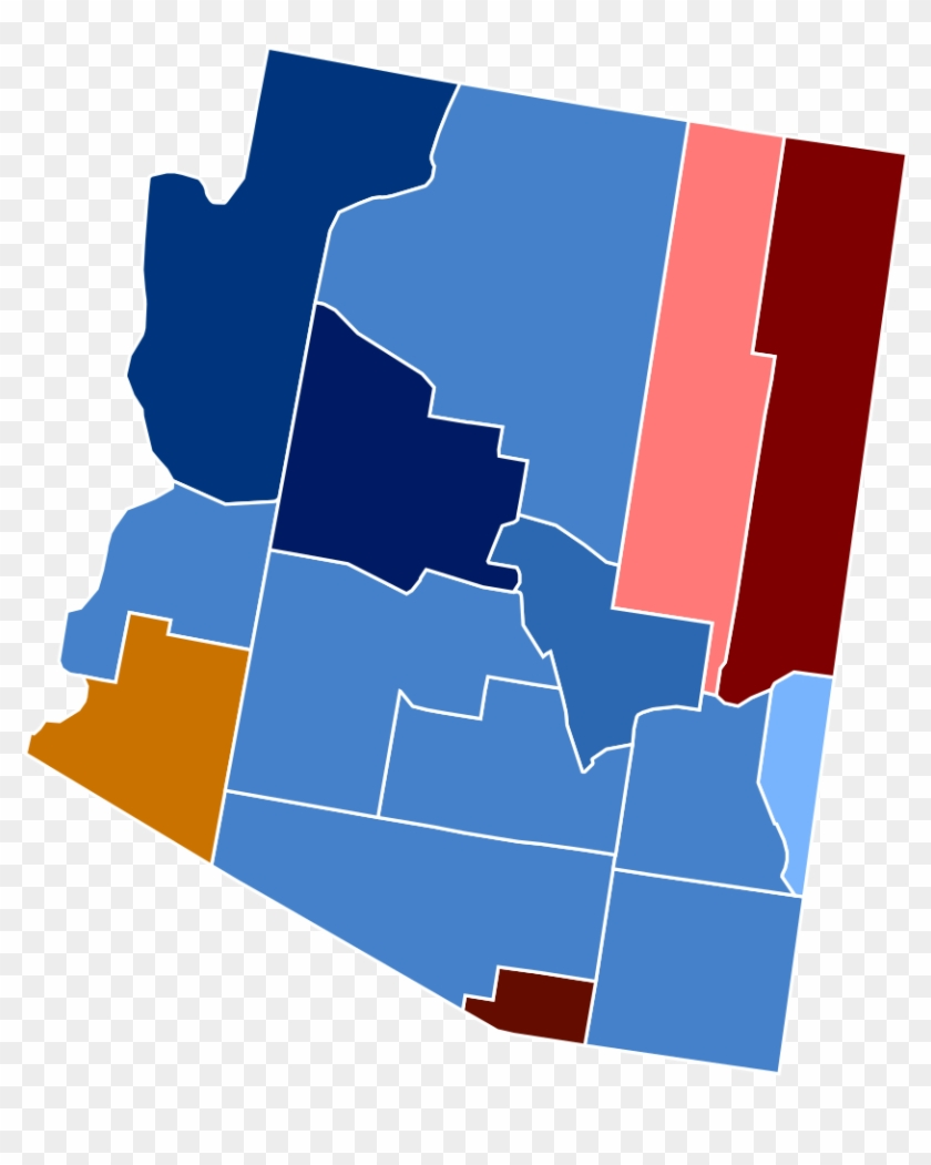 Clipart election results clip art free download Arizona Racial And Ethnic Map - Arizona 2016 Election Results - Free ... clip art free download