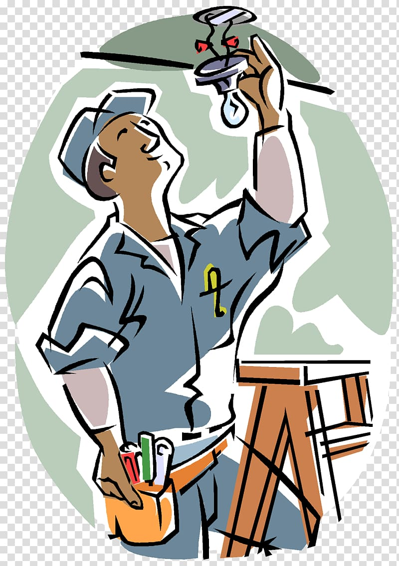 Clipart electrical work image black and white download Electrician Electricity Architectural engineering Electrical ... image black and white download
