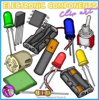 Clipart electronic components picture transparent Electronic Components and circuit symbols clip art picture transparent