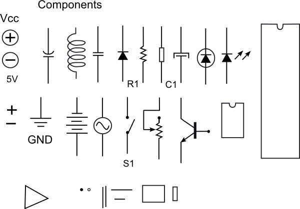 Clipart electronic components clip art black and white library Electronic Components clip art Free vector in Open office drawing ... clip art black and white library