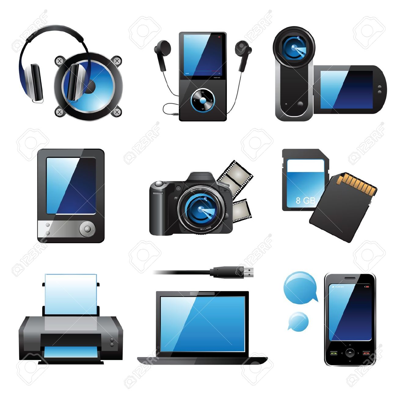 Electronic devices clipartfest icons. Clipart electronics