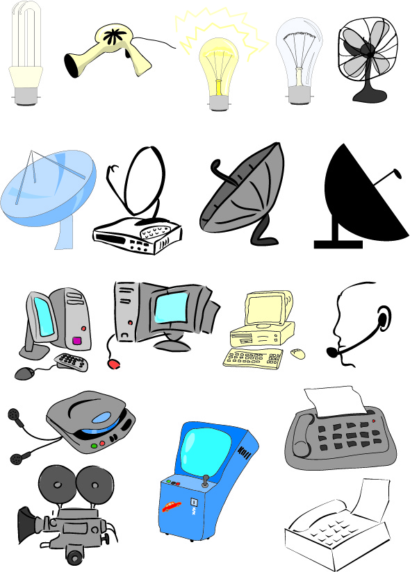 Clipart electronics. Kid cliparts v