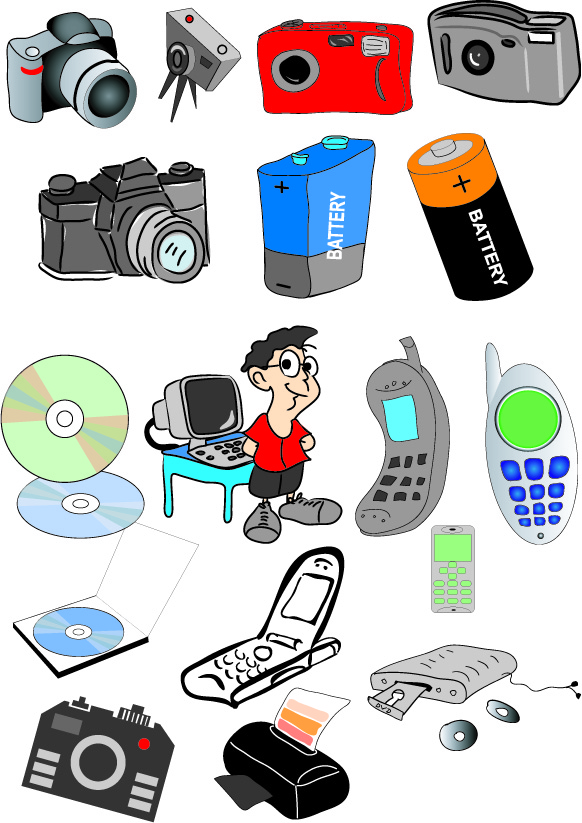 Clipart electronics. Kid cliparts v cherry