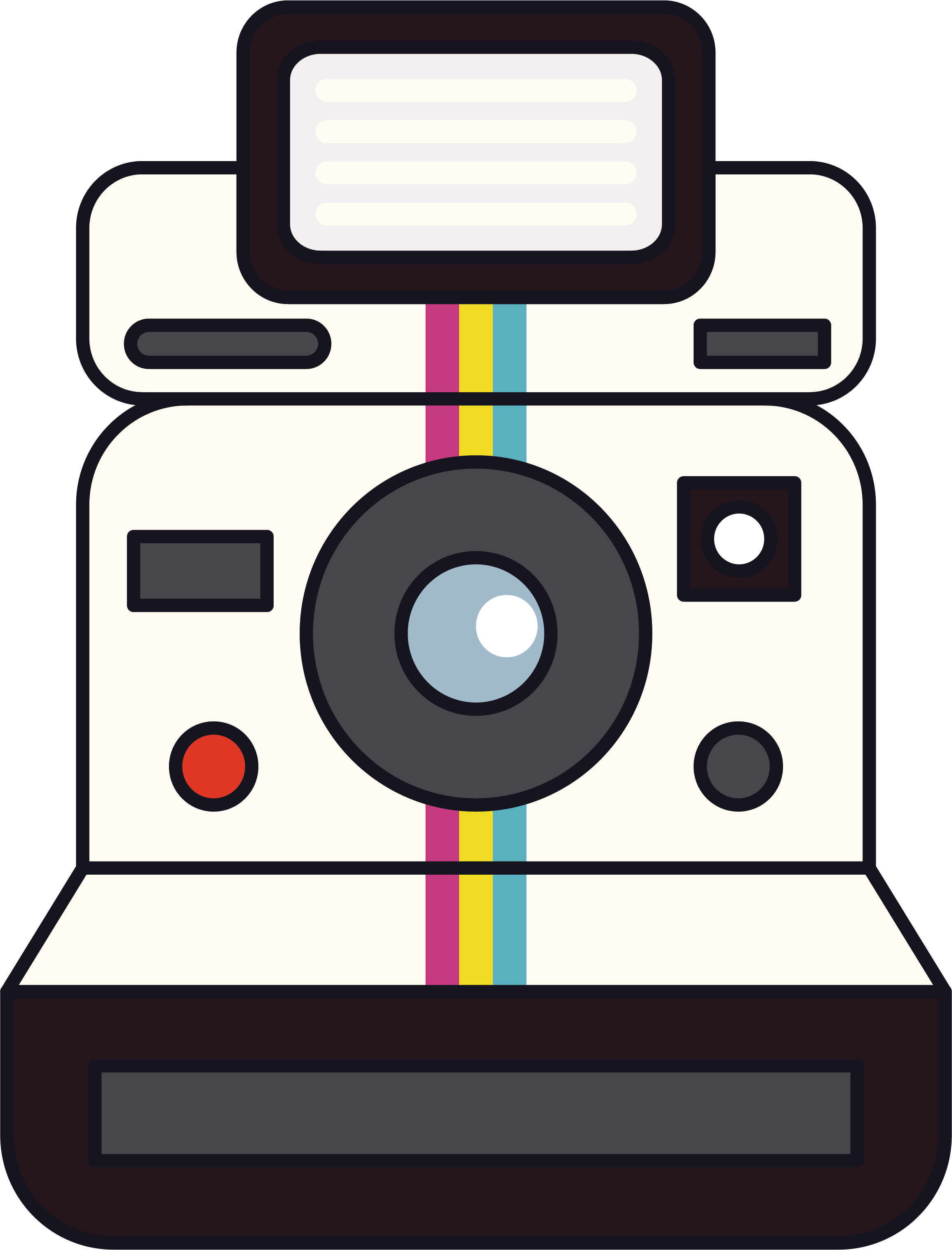 Instant camera Polaroid Corporation Clip art - White Polaroid camera ... clipart library stock