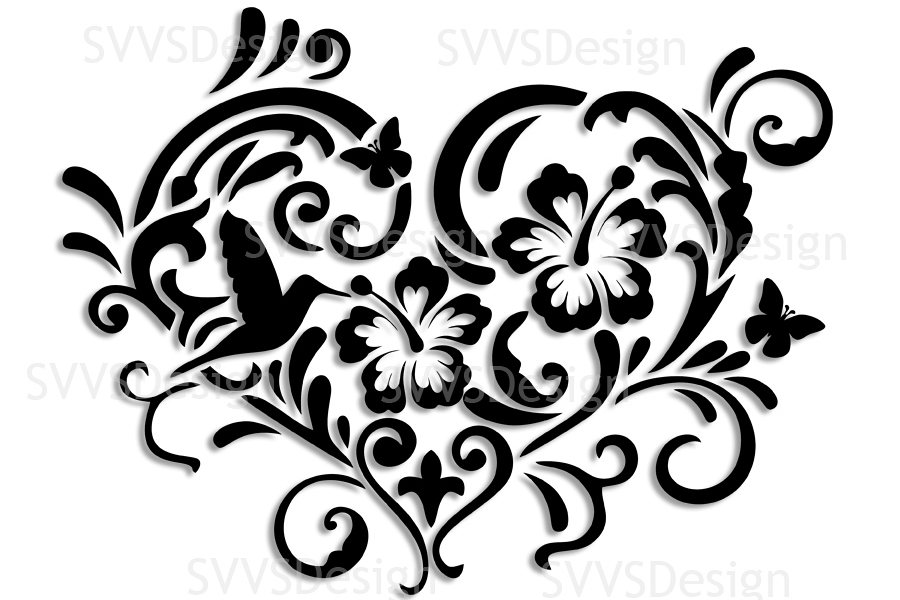Clipart elements for design graphic download SVG and PNG cutting files, Floral Design, Clipart, Vector, SVG, PNG, Heart,  Elements (sv) graphic download