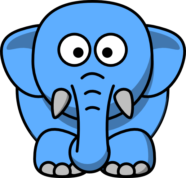 Clipart elephant with big head