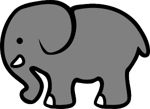 Clipart elephant with big head svg free stock Free Elephant Clipart Image - 3564, Planets In A Row Pics About ... svg free stock