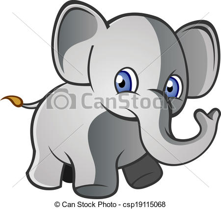 Clipart elephant with big head image transparent download Clip Art Vector of Baby Elephant Cartoon Character - A baby ... image transparent download