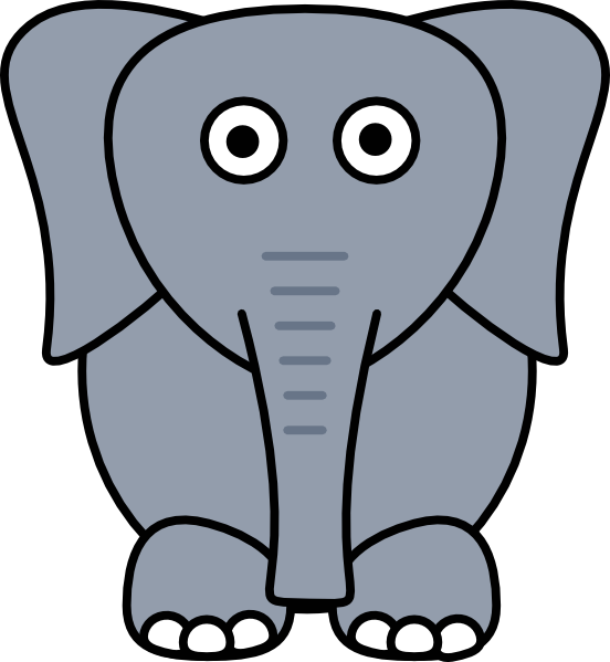 Clipart elephant with big head clipart free library Gray Elephant Clip Art at Clker.com - vector clip art online ... clipart free library
